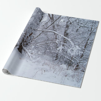 """Winter Scene Wrapping Paper, 30"""" x 6' Wrapping Paper"""