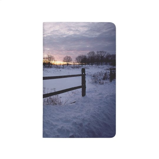 Winter Scenic Rural Snow Covered Ranch Fence Photo Journal