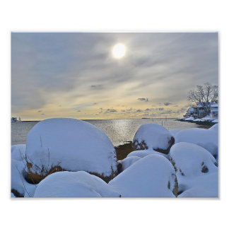 Winter Seashore Scene Photo Print