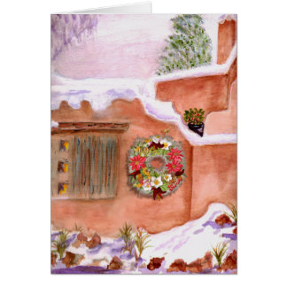 Winter Season Adobe Art Card