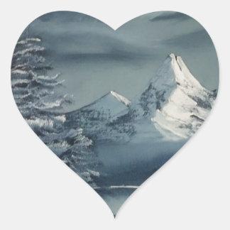 Winter Season Heart Sticker