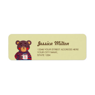 Winter Season is Coming (Bear) Return Address Label