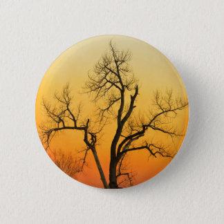Winter Season Sunset Tree 2 Inch Round Button