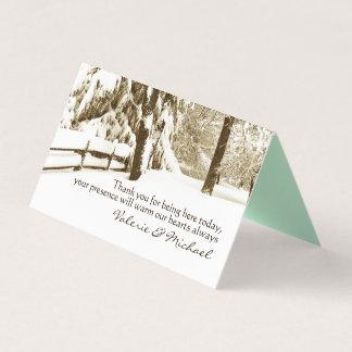 Winter Serenity Wedding Place Card
