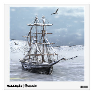 Winter Ship Wall Sticker