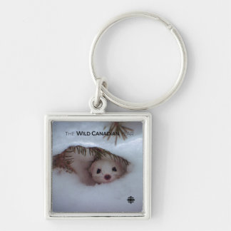 Winter - Short-Tailed Weasel Keychain