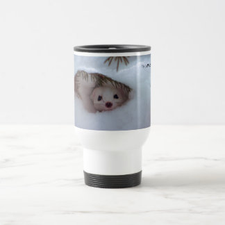 Winter - Short-Tailed Weasel Travel Mug
