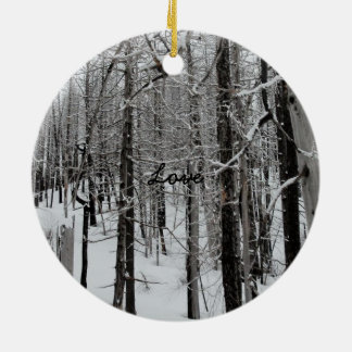 Winter Ski/Love Christmas Ornament