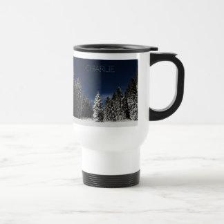 Winter Sky custom text mugs