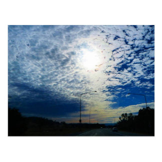 Winter Sky in Canberra Postcard
