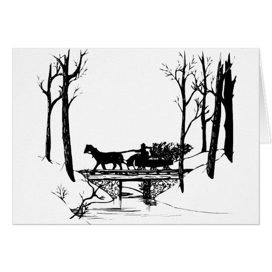 winter sleigh ride card