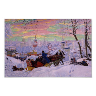 Winter Sleigh - Shrovetide Holiday Print