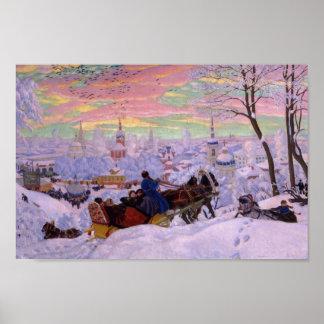 Winter Sleigh - Shrovetide Holiday Poster