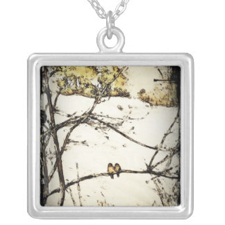 Winter Snow and Cold Silver Plated Necklace