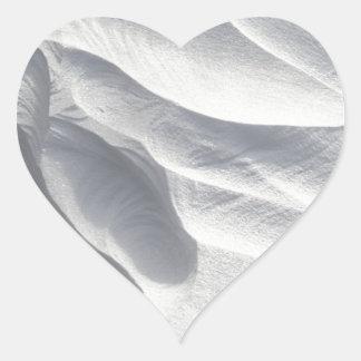 Winter Snow Drift Sculpture Heart Sticker