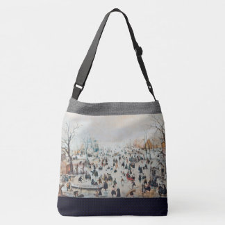 Winter Snow Dutch Ice Skaters Canal Tote Bag