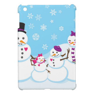 Winter Snow Family Cover For The iPad Mini