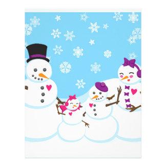 Winter Snow Family Letterhead