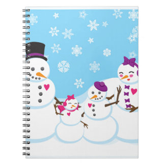 Winter Snow Family Notebook