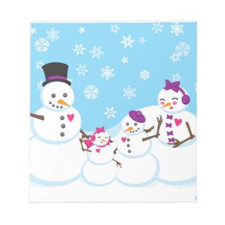 Winter Snow Family Notepad