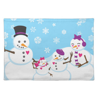 Winter Snow Family Placemat