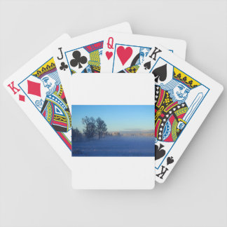 Winter Snow Fog Bicycle Playing Cards