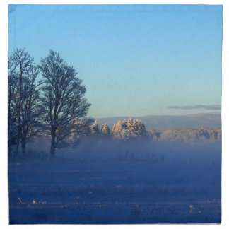 Winter Snow Fog Napkin