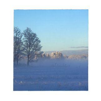Winter Snow Fog Notepad