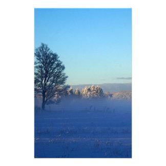 Winter Snow Fog Stationery
