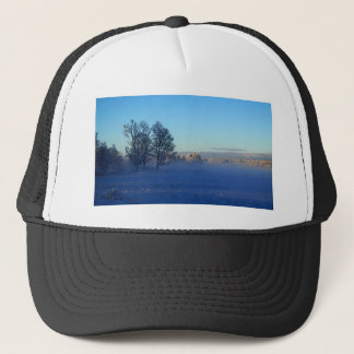 Winter Snow Fog Trucker Hat