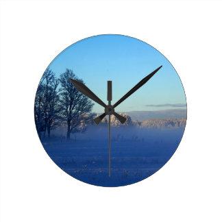 Winter Snow Fog Wallclock
