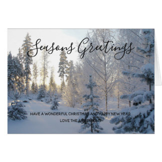 Winter Snow Landscape Christmas Photo Personalized Card