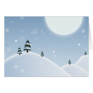 Winter Snow Scene Card