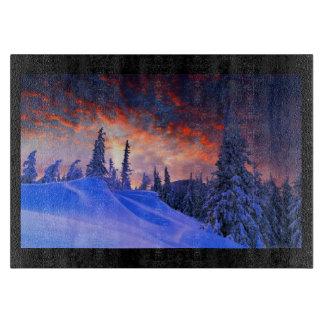 Winter Snow Scene Carving Board