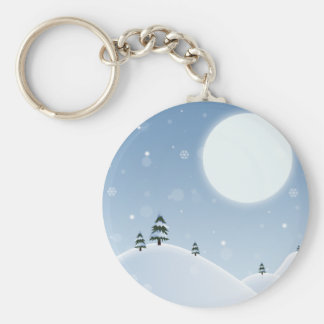 Winter Snow Scene Keychain