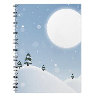 Winter Snow Scene Notebook
