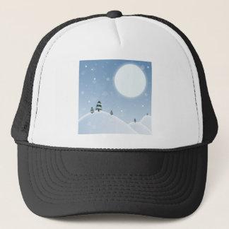 Winter Snow Scene Trucker Hat