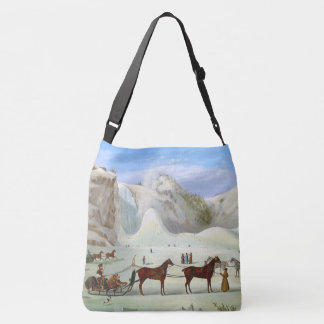 Winter Snow Sleds Sleighs Horses Tote Bag