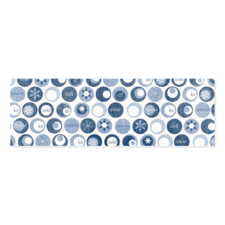 winter snow snowflake circles blue business card
