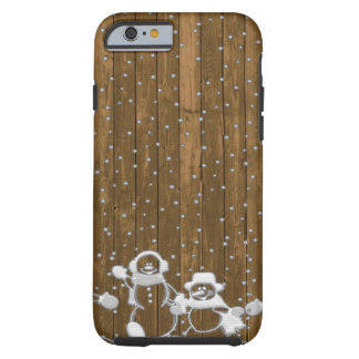 Winter Snow Snowman Peace Love Destiny Tough iPhone 6 Case