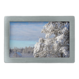 Winter Snow St Joseph Island Belt Buckles
