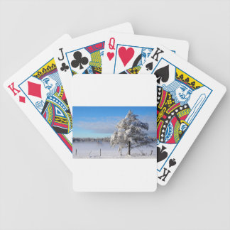 Winter Snow St Joseph Island Bicycle Playing Cards