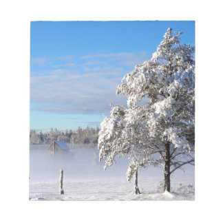 Winter Snow St Joseph Island Notepad