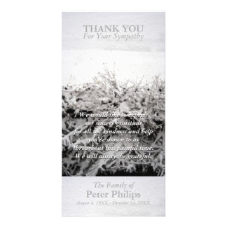 Winter Snow Sympathy Thank You Photo card