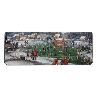 Winter Snow Town Ice Skating Wireless Keyboard