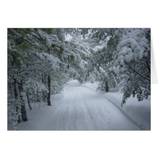 Winter Snow Trail Card