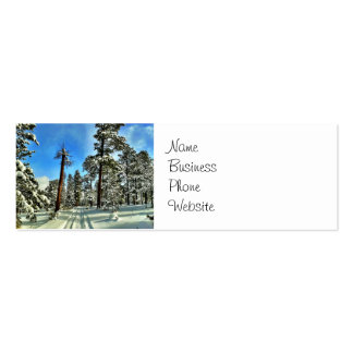 Winter Snow Trails in the Woods Trees Forest Gifts Pack Of Skinny Business Cards