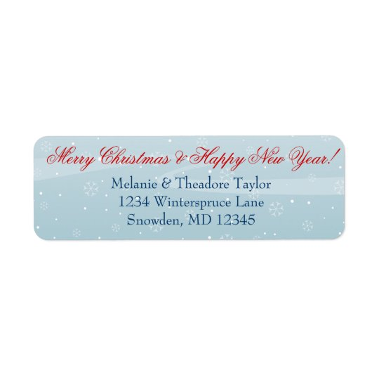 Winter Snowfall - Custom Return Address Labels