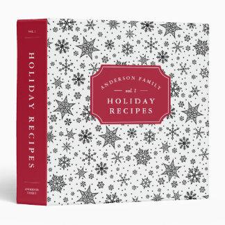 Winter Snowfall Holiday Recipe Vinyl Binder