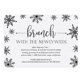 Winter Snowfall Post Wedding Brunch Invitation